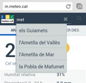 m.meteo.cat - cerca per municipi