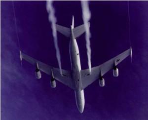 Deixant de combustible en el cas d'un aterratge d'emergència. Font: Portal Contrail Science de Mick West.