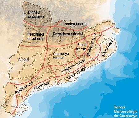 Zones geogràfiques Prediccio