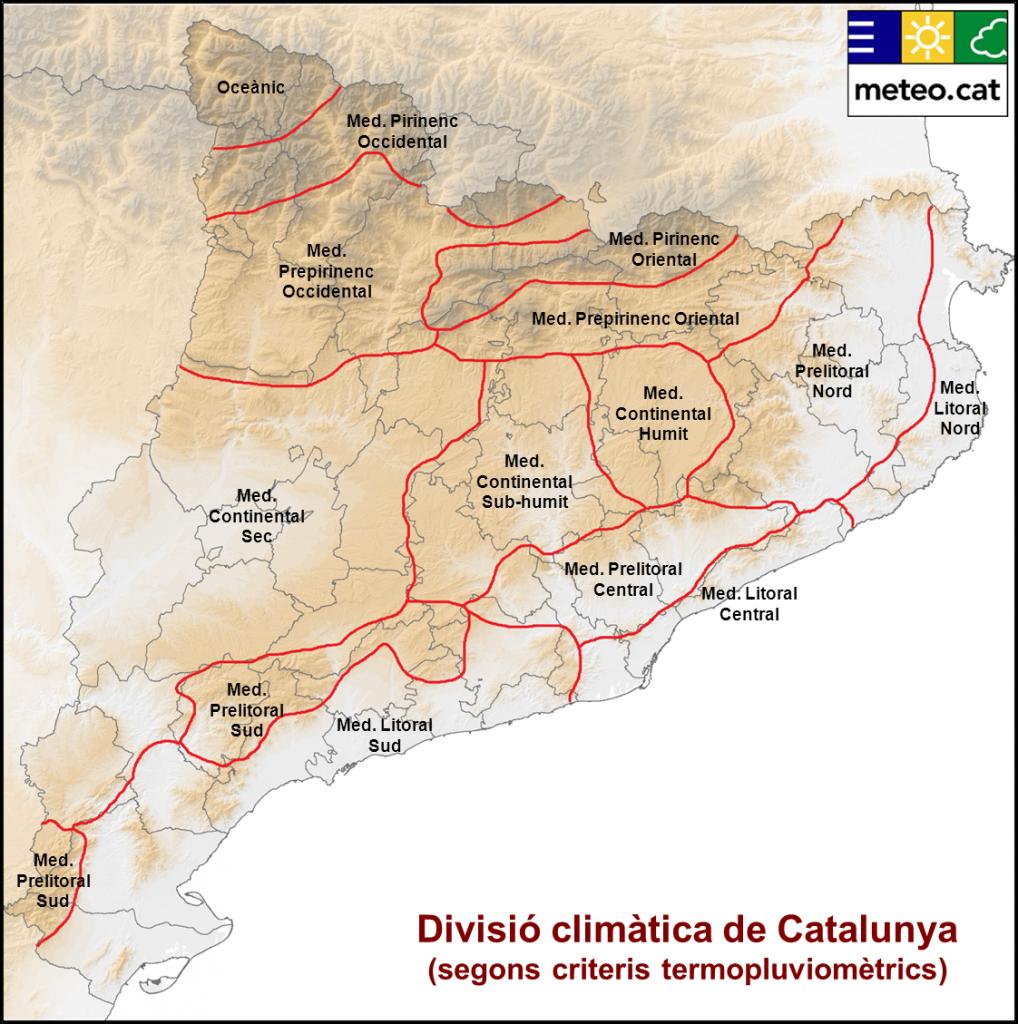 Divisió climàtica de Catalunya