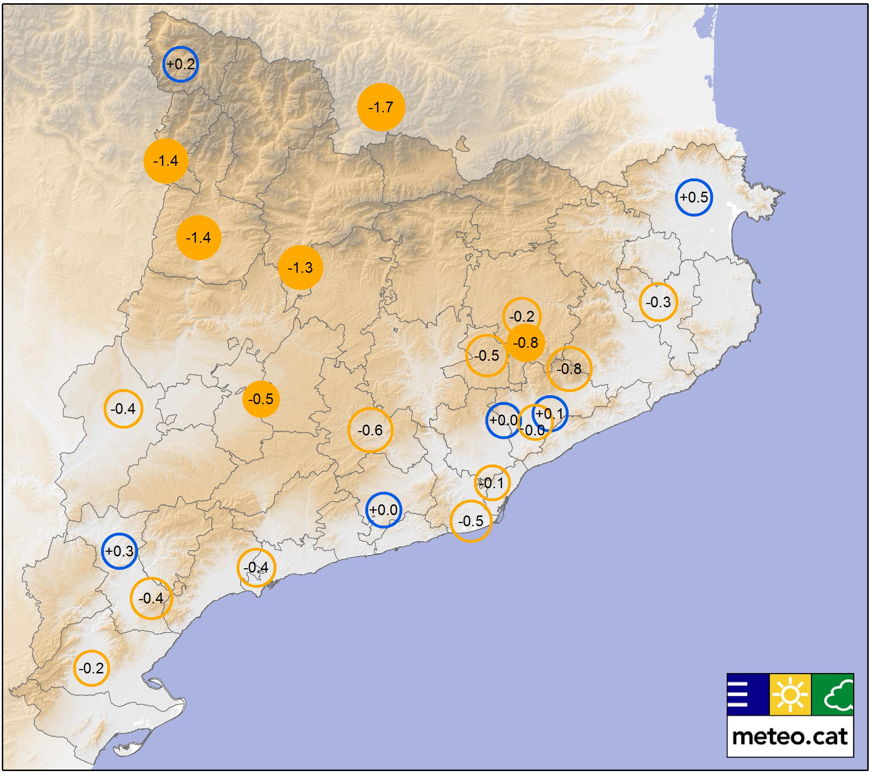 Dies de precipitació ≥10 mm l'any