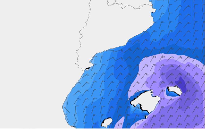 Altura significativa i vent del model SWAN
