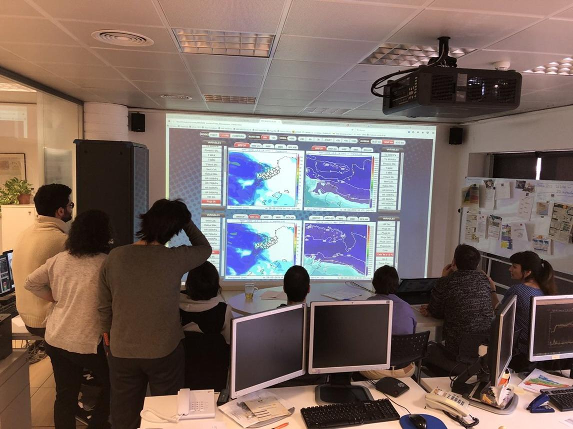 Briefing de l'Àrea de Predicció i Vigilància del meteocat