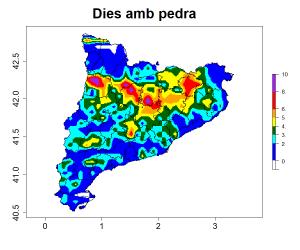 Distribució geogràfica a Catalunya dels casos de pedra